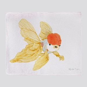 Daily Doodle 15 Goldfish Tail Throw Blanket