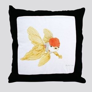 Daily Doodle 15 Goldfish Tail Throw Pillow