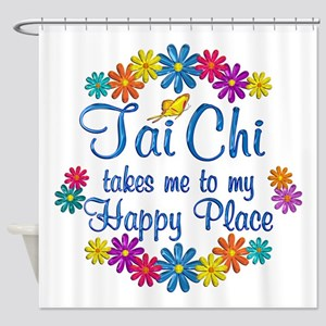 Tai Chi Happy Place Shower Curtain