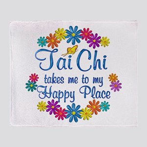 Tai Chi Happy Place Throw Blanket