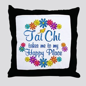 Tai Chi Happy Place Throw Pillow