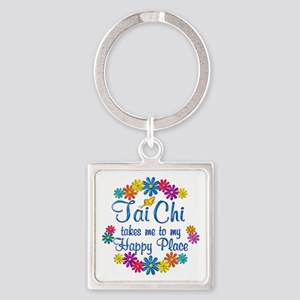 Tai Chi Happy Place Square Keychain