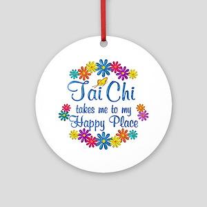 Tai Chi Happy Place Ornament (Round)