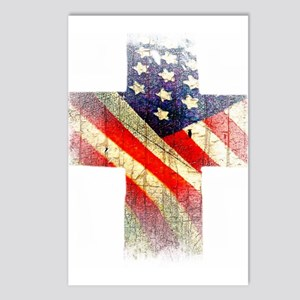 Flag cross Postcards (Package of 8)
