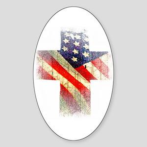 Flag cross Sticker