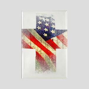 Flag cross Magnets
