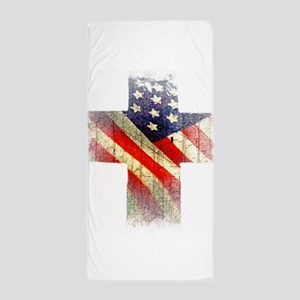 Flag cross Beach Towel