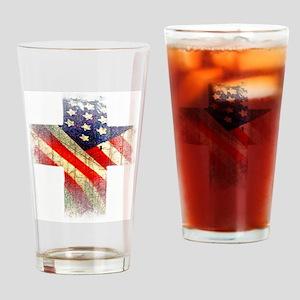 Flag cross Drinking Glass