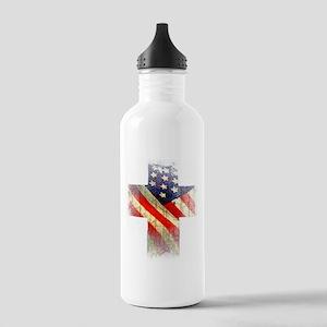 Flag cross Water Bottle