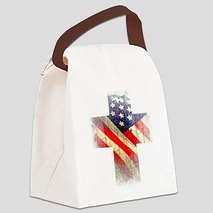 Flag cross Canvas Lunch Bag