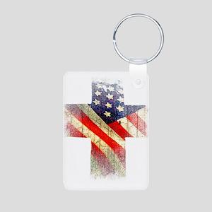 Flag cross Keychains