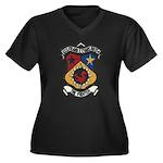 USS FRANK E. Women's Plus Size V-Neck Dark T-Shirt