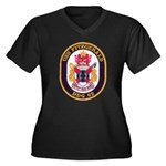 USS FITZGERA Women's Plus Size V-Neck Dark T-Shirt