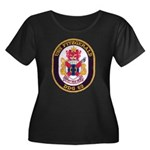 USS FITZ Women's Plus Size Scoop Neck Dark T-Shirt