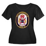 USS FITZ Women's Plus Size Scoop Neck Dark T-Shirt