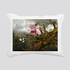 Cattleya Orchid, Two Hum Rectangular Canvas Pillow