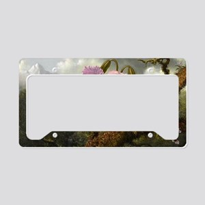 Cattleya Orchid, Two Hummingb License Plate Holder