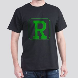 Green Block Letter R T-Shirt