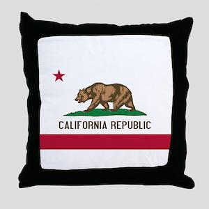 STATE FLAG : california Throw Pillow