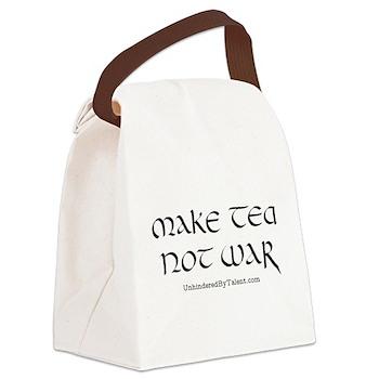 Make Tea Not War Canvas Lunch Bag
