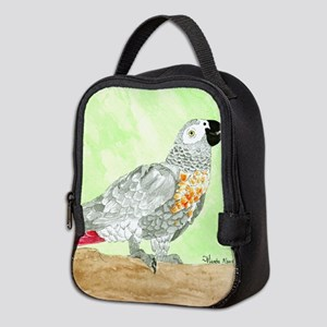 Daily Doodle 3 African Gray Cisco Neoprene Lunch B