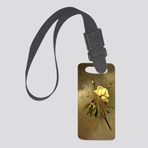 A Yellow Rose against a Cloudy S Small Luggage Tag