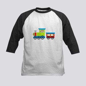 Monkey Driving a Train Baseball Jersey