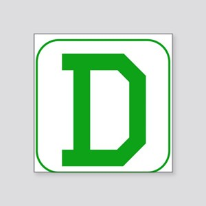 Green Block Letter D Sticker