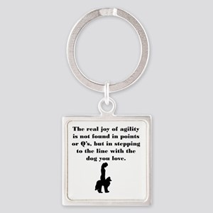 The Joy of Agility Square Keychain