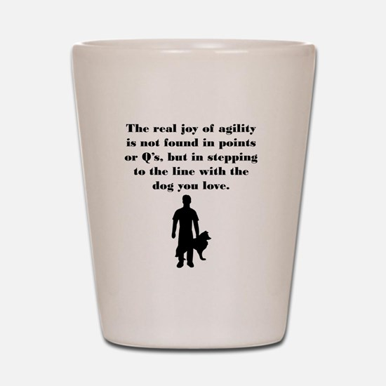 The Joy of Agility Shot Glass