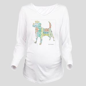 Random Agility Words Long Sleeve Maternity T-Shirt