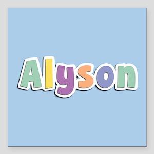 "Alyson Spring14 Square Car Magnet 3"" x 3"""