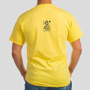 AZKFSSA Tiger and Dragon Yellow T-Shirt