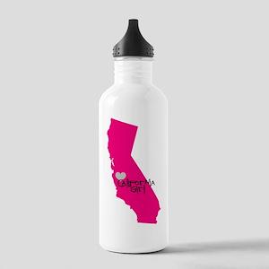 CALIFORNIA GIRL w HEART Water Bottle