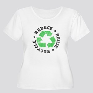 Recycle! Women's Plus Size Scoop Neck T-Shirt
