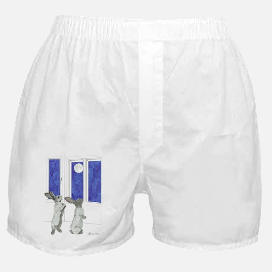 Daily Doodle 4 Rabbit Moon Boxer Shorts