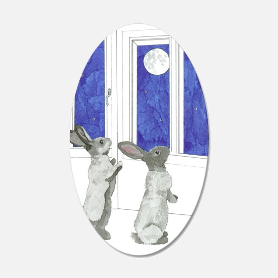 Daily Doodle 4 Rabbit Moon Wall Decal