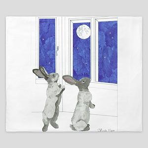 Daily Doodle 4 Rabbit Moon King Duvet