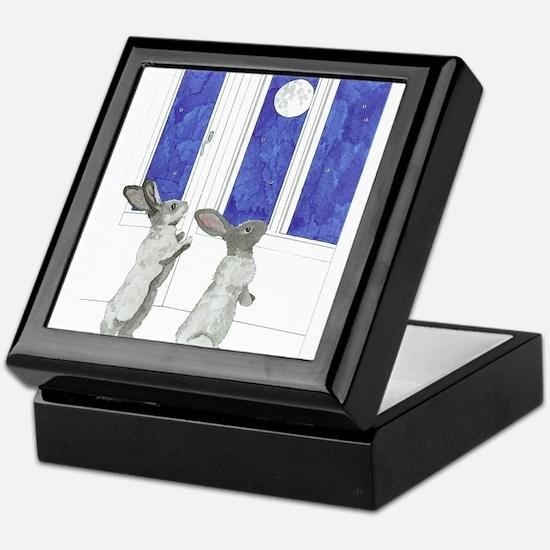 Daily Doodle 4 Rabbit Moon Keepsake Box