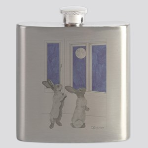 Daily Doodle 4 Rabbit Moon Flask