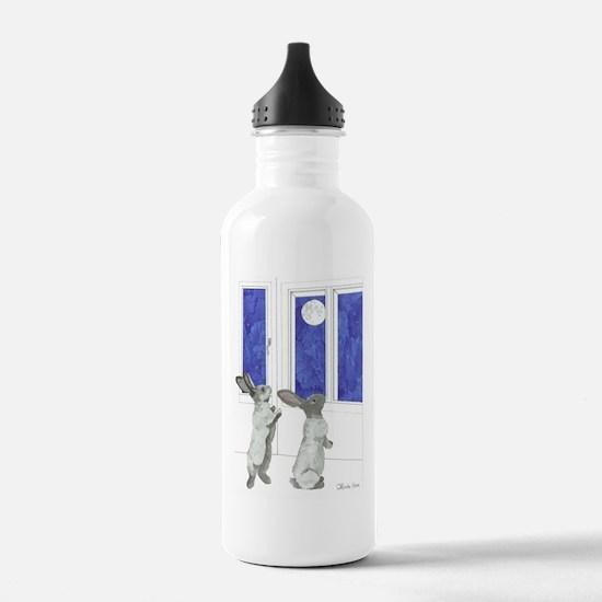 Daily Doodle 4 Rabbit Moon Water Bottle