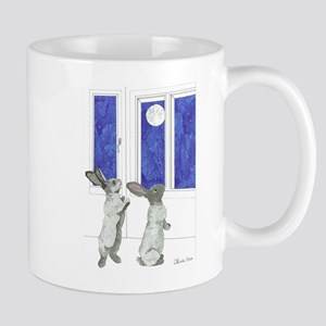 Daily Doodle 4 Rabbit Moon Mugs