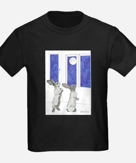 Daily Doodle 4 Rabbit Moon T-Shirt