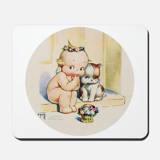KEWPIE & DOODLE DOG Mousepad