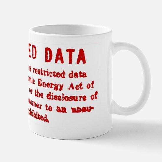 Restricted Data Stamp Mug Mugs