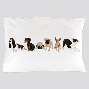 Dogs Line-Up Pillow Case