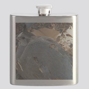 Mommy and Baby Quail Flask