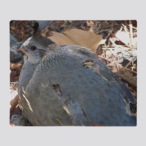 Mommy and Baby Quail Throw Blanket