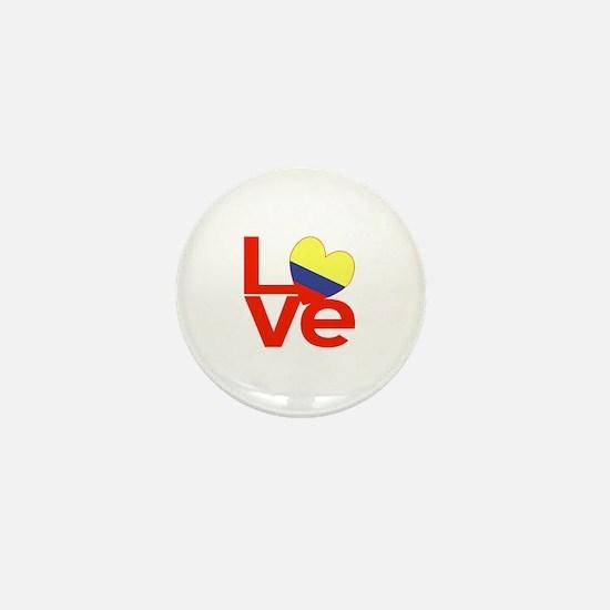 Red Colombia LOVE Mini Button