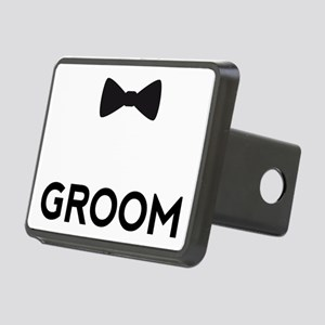 Groom with bow tie Hitch Cover